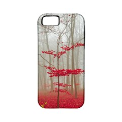 Magic Forest In Red And White Apple Iphone 5 Classic Hardshell Case (pc+silicone)