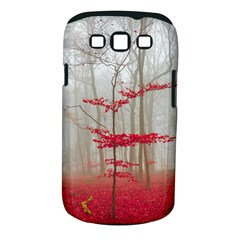 Magic Forest In Red And White Samsung Galaxy S Iii Classic Hardshell Case (pc+silicone) by wsfcow