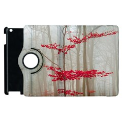 Magic Forest In Red And White Apple Ipad 2 Flip 360 Case