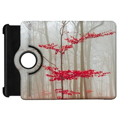 Magic Forest In Red And White Kindle Fire Hd Flip 360 Case by wsfcow