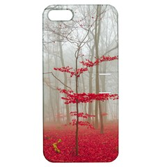 Magic Forest In Red And White Apple Iphone 5 Hardshell Case With Stand