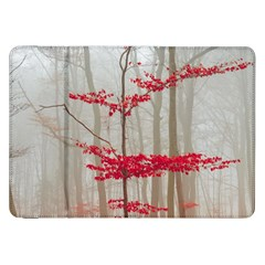 Magic Forest In Red And White Samsung Galaxy Tab 8 9  P7300 Flip Case by wsfcow