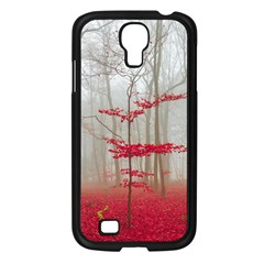Magic Forest In Red And White Samsung Galaxy S4 I9500/ I9505 Case (black) by wsfcow