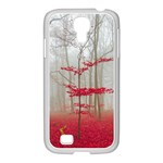 Magic Forest In Red And White Samsung GALAXY S4 I9500/ I9505 Case (White) Front