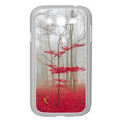 Magic Forest In Red And White Samsung Galaxy Grand Duos I9082 Case (white) by wsfcow