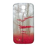 Magic Forest In Red And White Samsung Galaxy S4 I9500/I9505  Hardshell Back Case Front