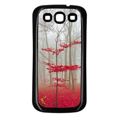 Magic Forest In Red And White Samsung Galaxy S3 Back Case (black) by wsfcow