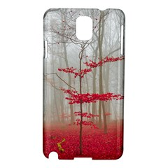 Magic Forest In Red And White Samsung Galaxy Note 3 N9005 Hardshell Case by wsfcow
