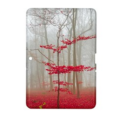 Magic Forest In Red And White Samsung Galaxy Tab 2 (10 1 ) P5100 Hardshell Case