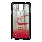 Magic Forest In Red And White Samsung Galaxy Note 3 N9005 Case (Black) Front