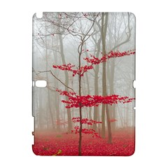 Magic Forest In Red And White Samsung Galaxy Note 10 1 (p600) Hardshell Case by wsfcow