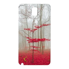 Magic Forest In Red And White Samsung Galaxy Note 3 N9005 Hardshell Back Case by wsfcow