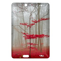 Magic Forest In Red And White Amazon Kindle Fire Hd (2013) Hardshell Case by wsfcow