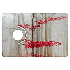 Magic Forest In Red And White Kindle Fire Hdx Flip 360 Case by wsfcow