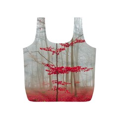Magic Forest In Red And White Full Print Recycle Bags (s)  by wsfcow