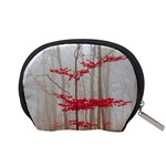 Magic Forest In Red And White Accessory Pouches (Small)  Back