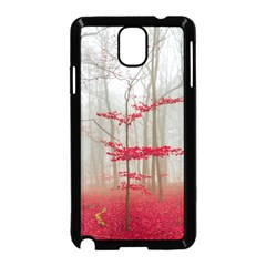 Magic Forest In Red And White Samsung Galaxy Note 3 Neo Hardshell Case (black) by wsfcow
