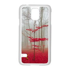 Magic Forest In Red And White Samsung Galaxy S5 Case (white) by wsfcow