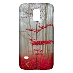 Magic Forest In Red And White Galaxy S5 Mini by wsfcow