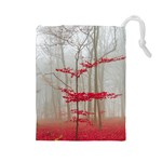Magic Forest In Red And White Drawstring Pouches (Large)  Front