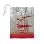 Magic Forest In Red And White Drawstring Pouches (Large)  Back