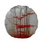 Magic Forest In Red And White Standard 15  Premium Flano Round Cushions Front