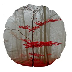 Magic Forest In Red And White Large 18  Premium Flano Round Cushions