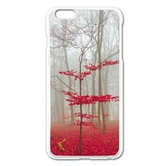 Magic Forest In Red And White Apple Iphone 6 Plus/6s Plus Enamel White Case by wsfcow