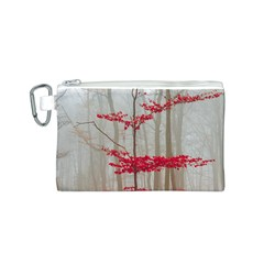 Magic Forest In Red And White Canvas Cosmetic Bag (s) by wsfcow