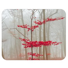 Magic Forest In Red And White Double Sided Flano Blanket (medium)  by wsfcow