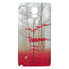 Magic Forest In Red And White Galaxy Note 4 Back Case by wsfcow