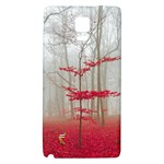 Magic Forest In Red And White Galaxy Note 4 Back Case Front