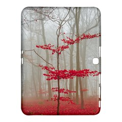 Magic Forest In Red And White Samsung Galaxy Tab 4 (10 1 ) Hardshell Case  by wsfcow
