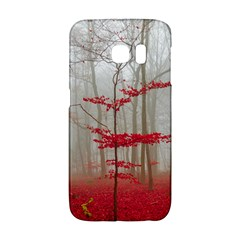 Magic Forest In Red And White Galaxy S6 Edge