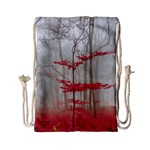 Magic Forest In Red And White Drawstring Bag (Small) Front