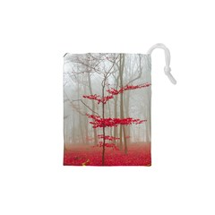 Magic Forest In Red And White Drawstring Pouches (xs)