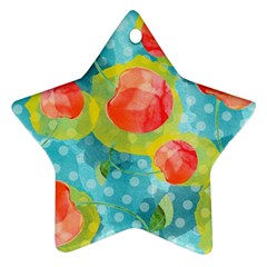 Red Cherries Ornament (star)  by DanaeStudio