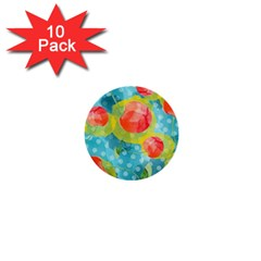 Red Cherries 1  Mini Buttons (10 Pack)  by DanaeStudio