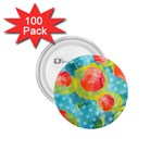 Red Cherries 1.75  Buttons (100 pack)  Front