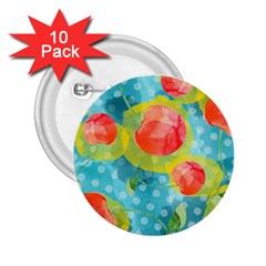 Red Cherries 2 25  Buttons (10 Pack)