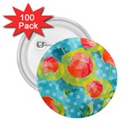 Red Cherries 2.25  Buttons (100 pack)  Front