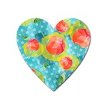 Red Cherries Heart Magnet Front