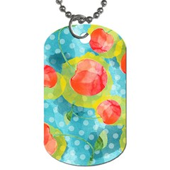 Red Cherries Dog Tag (one Side) by DanaeStudio