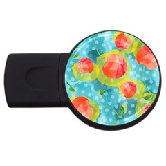 Red Cherries Usb Flash Drive Round (2 Gb)  by DanaeStudio