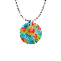 Red Cherries Button Necklaces