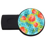 Red Cherries USB Flash Drive Round (4 GB)  Front