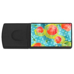 Red Cherries Usb Flash Drive Rectangular (4 Gb)  by DanaeStudio