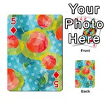 Red Cherries Playing Cards 54 Designs  Front - Diamond5