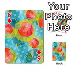 Red Cherries Playing Cards 54 Designs  Front - Diamond6