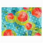Red Cherries Large Glasses Cloth Front